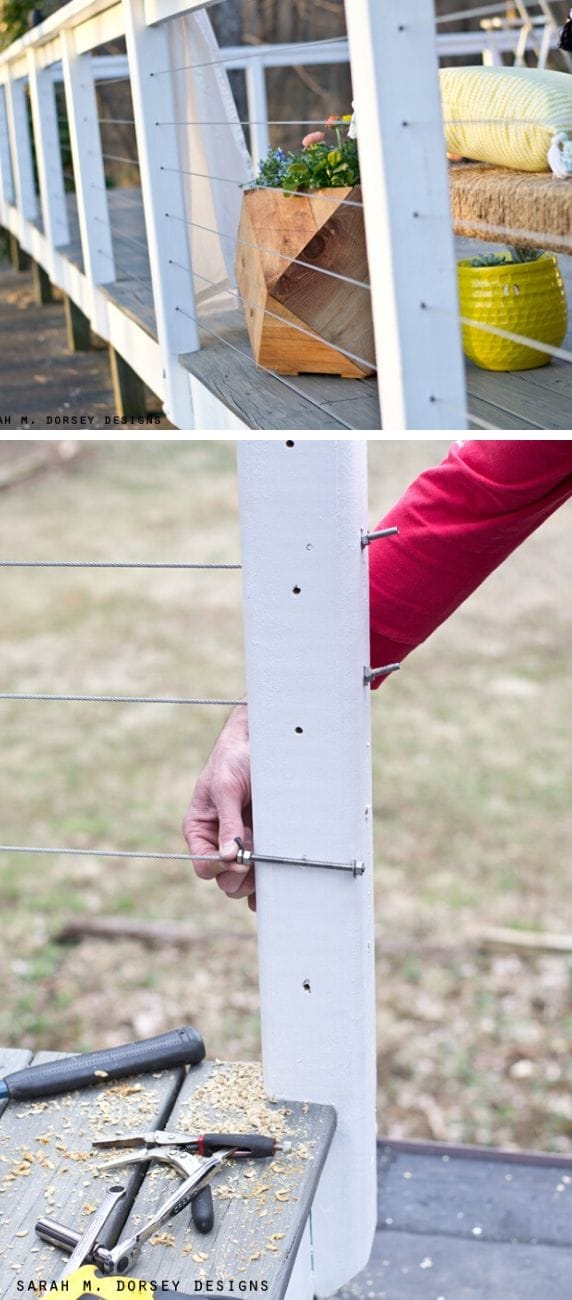 Unique DIY deck railing ideas and designs #1