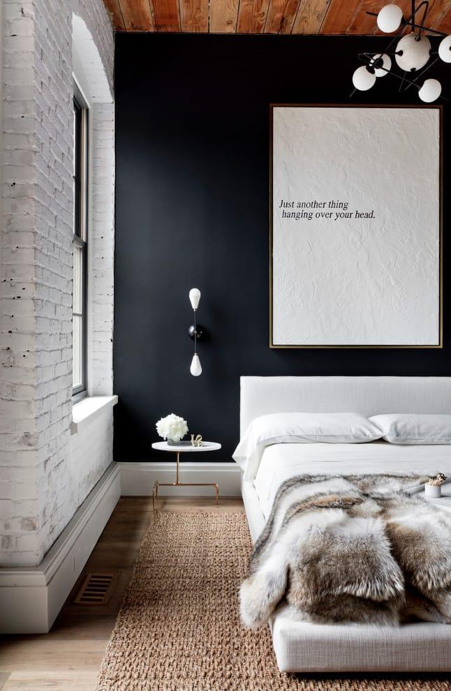 White exposed Bricks with Black Design