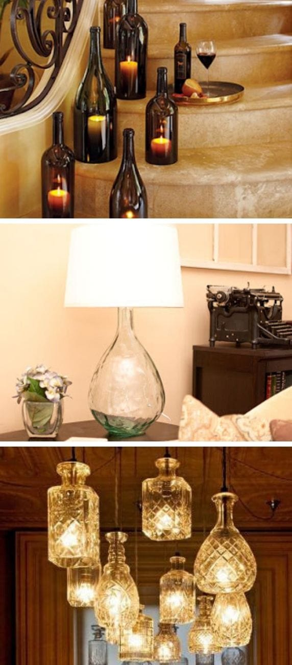 Glass Bottle Pendant Lamps