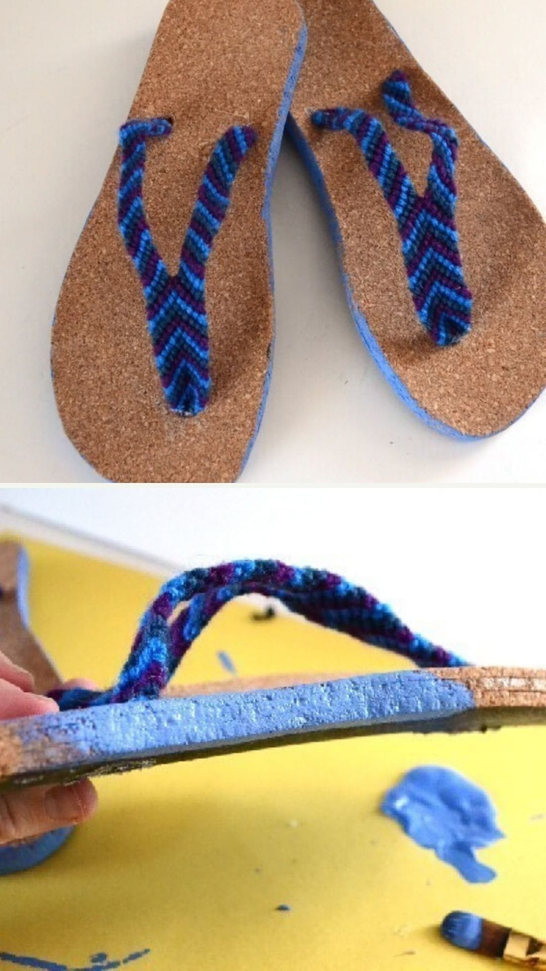 DIY Flip Flops with Friendship Bracelet Straps