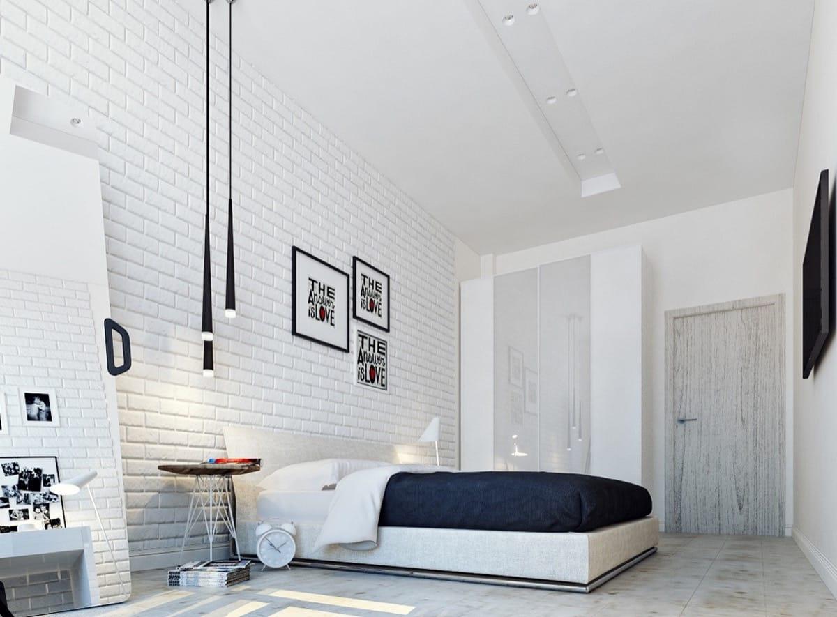 White Textured Wall Idea