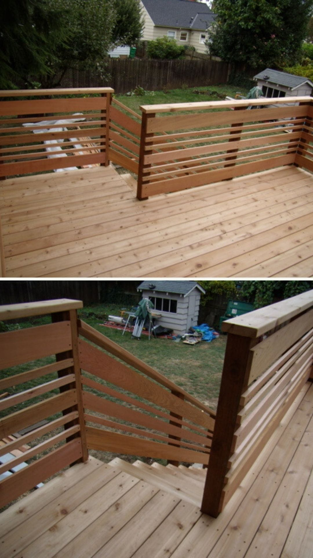 Unique DIY deck railing ideas and designs #13