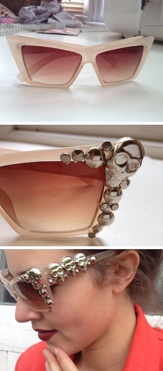 DIY Embellished Glasses