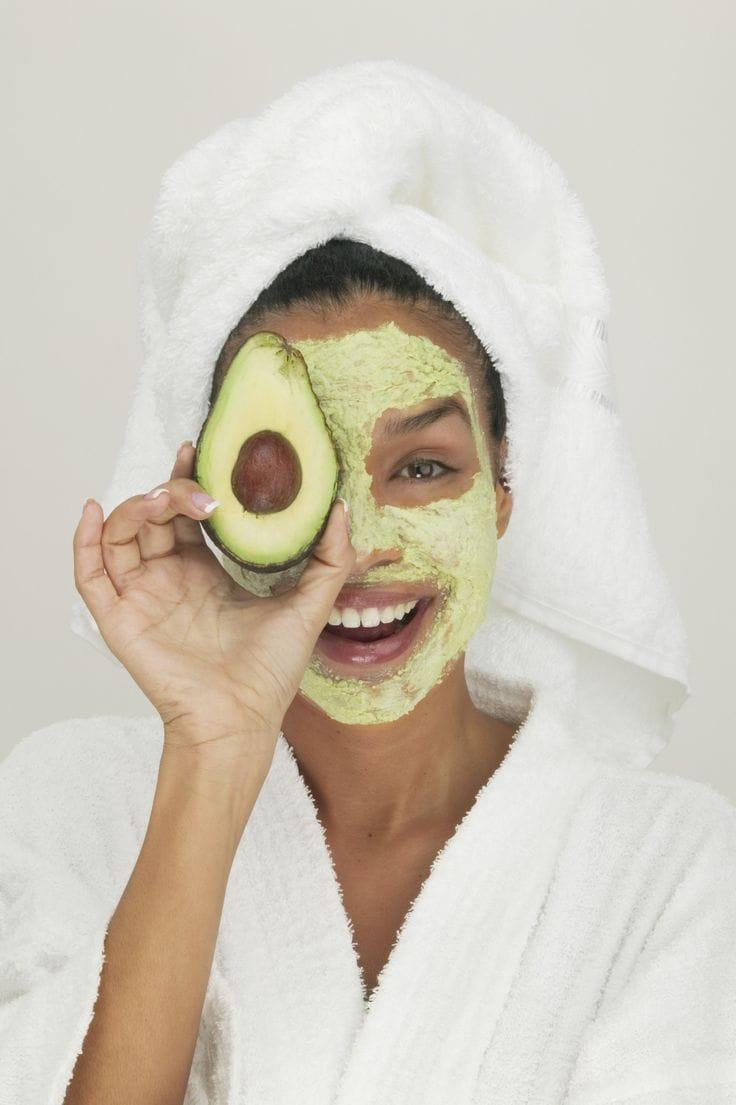 Overripe avocado for beauty