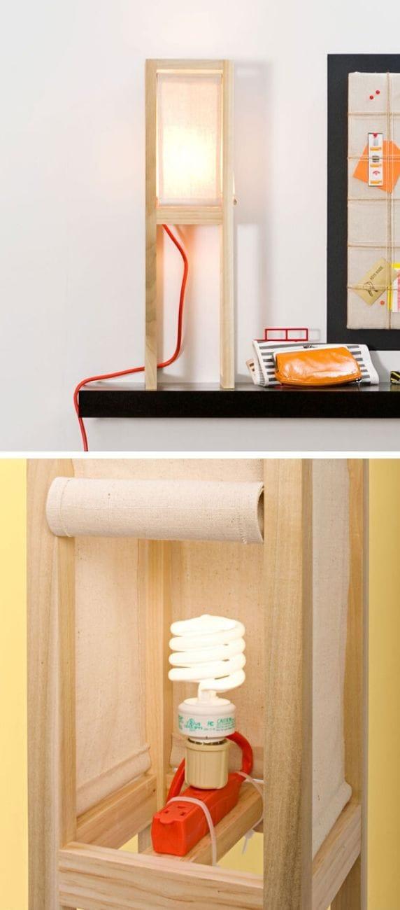 Drop Cloth Lamp