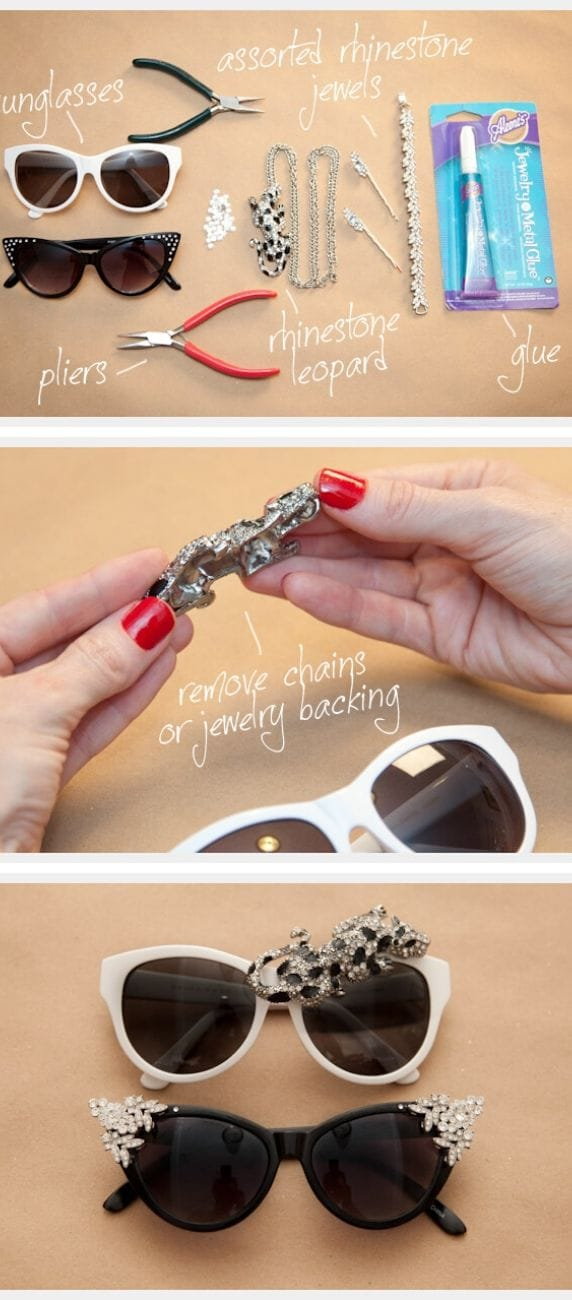 Studded Designed Rhinestone Sunnies