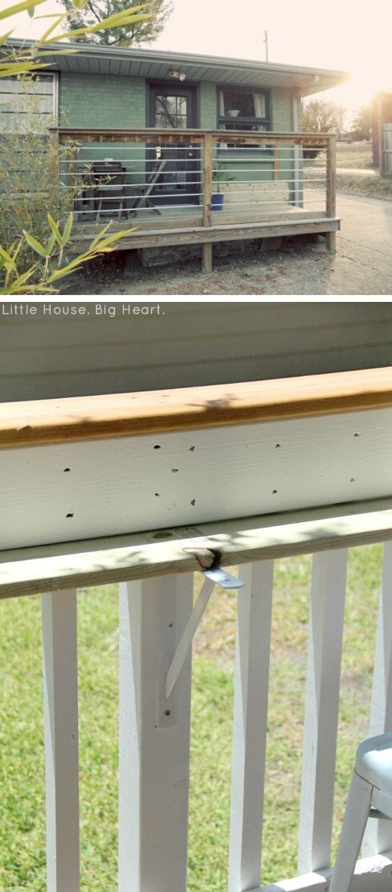 Unique DIY deck railing ideas and designs #15