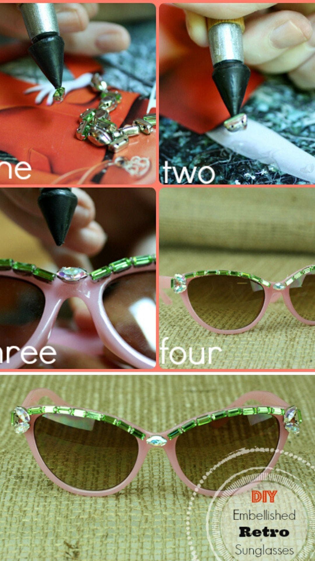 DIY Embellished Retro Sunglasses