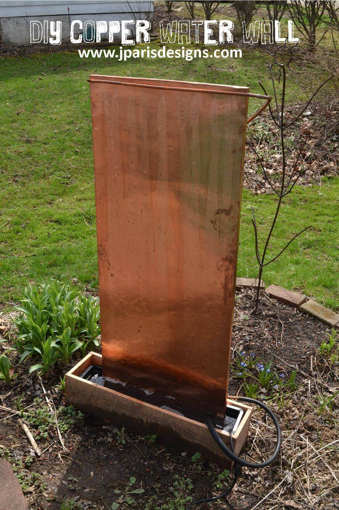 DIY copper water wall