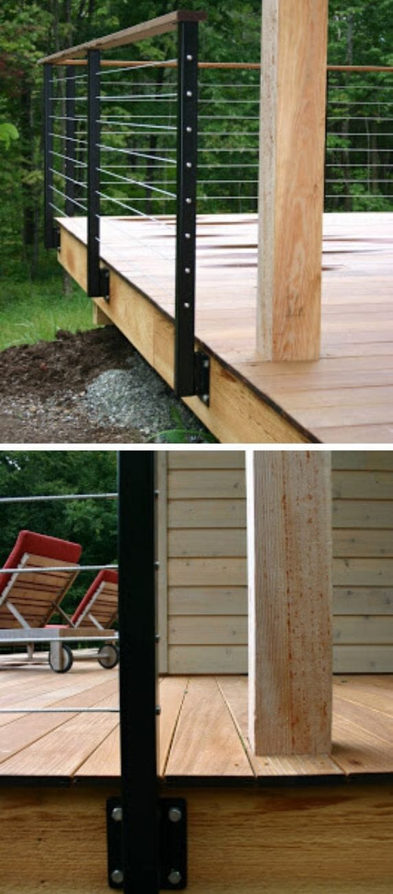 Unique DIY deck railing ideas and designs #16