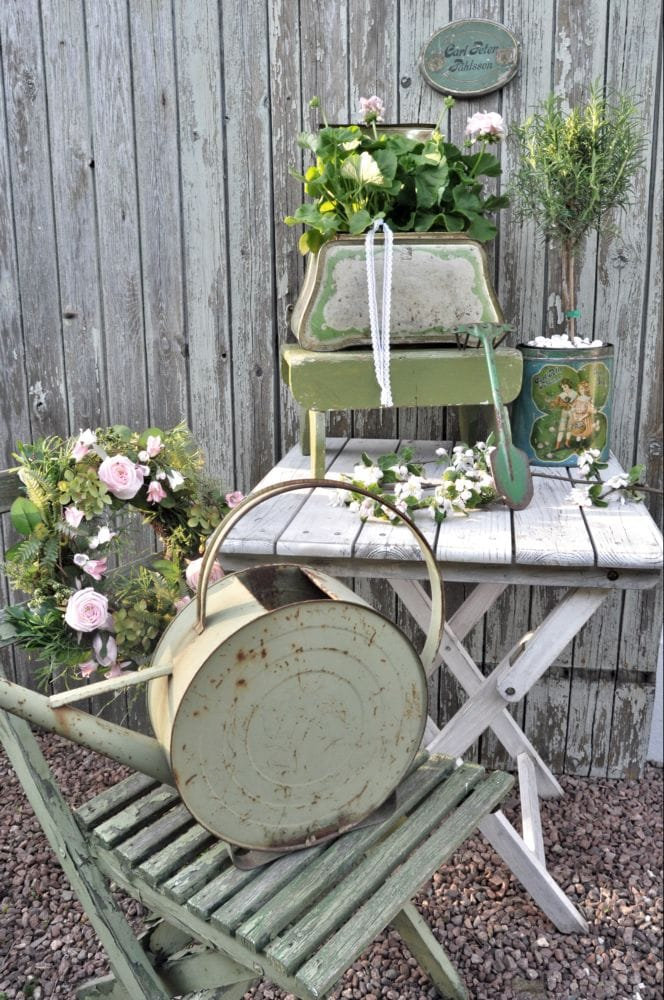 Best shabby chic vintage decor ideas #16