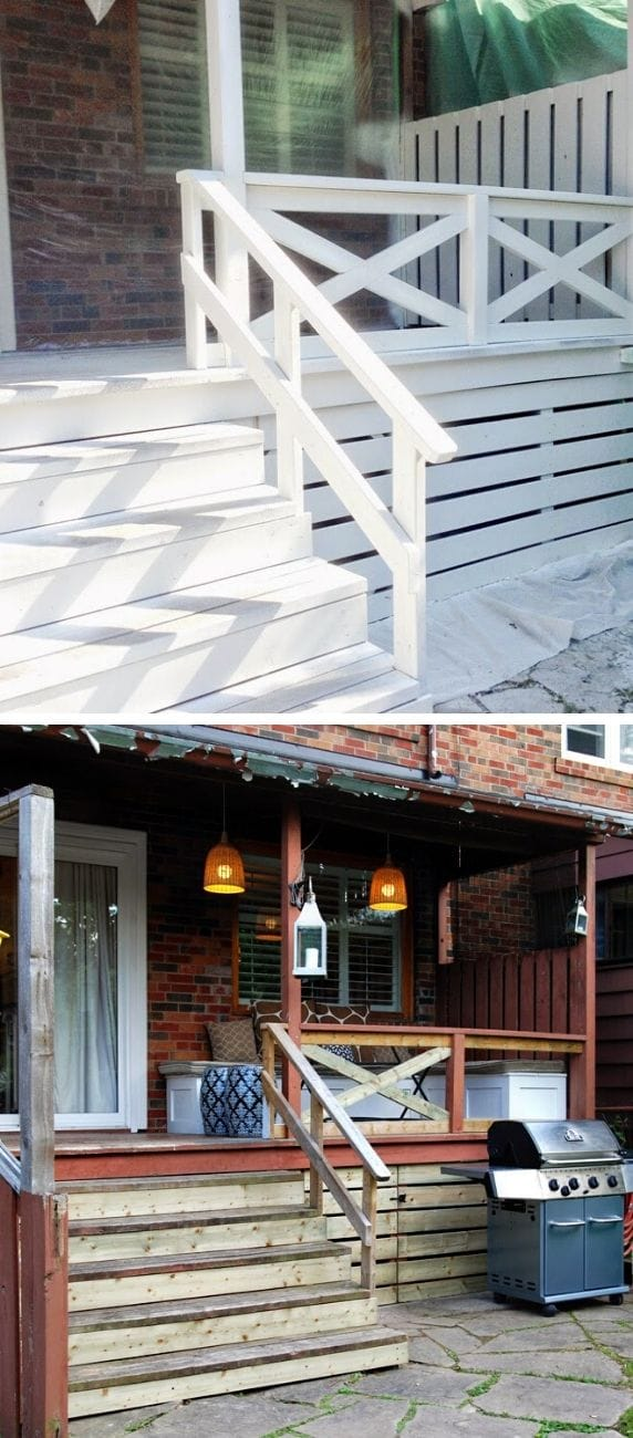Unique DIY deck railing ideas and designs #18