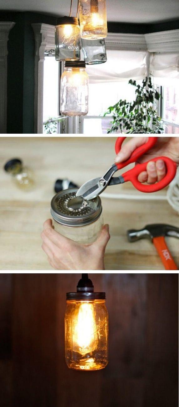 Mason Jar Pendant Lamps