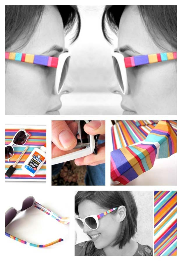 DIY Stripe Shades