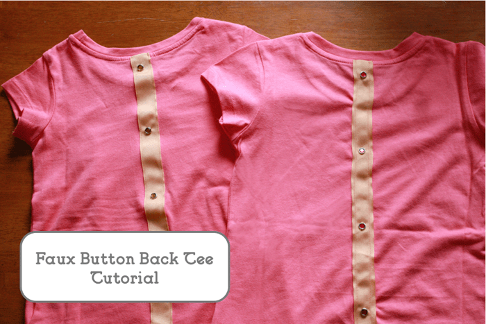 DIY Faux Button Back Tee