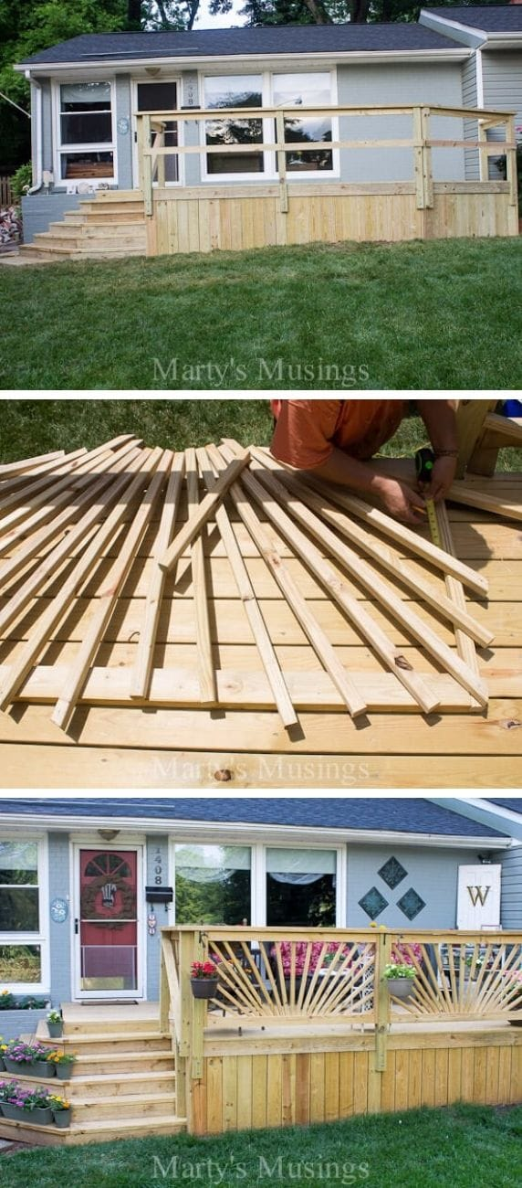 Unique DIY deck railing ideas and designs #20