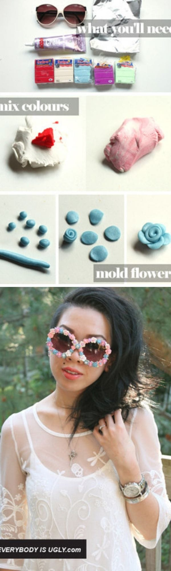 DIY Fully Floral Sunglasses