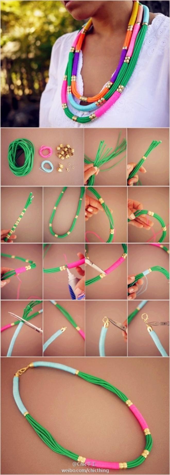 DIY Multicolored Necklaces