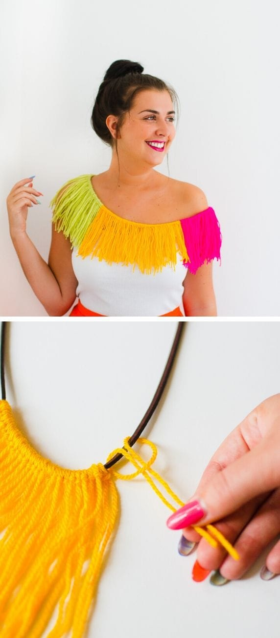 DIY Bold Fringe Necklace