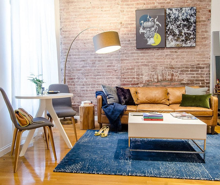 Reading Room with Exposed Brick Wall