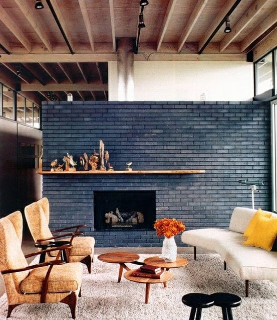 Interior Painted Exposed Brick Wall