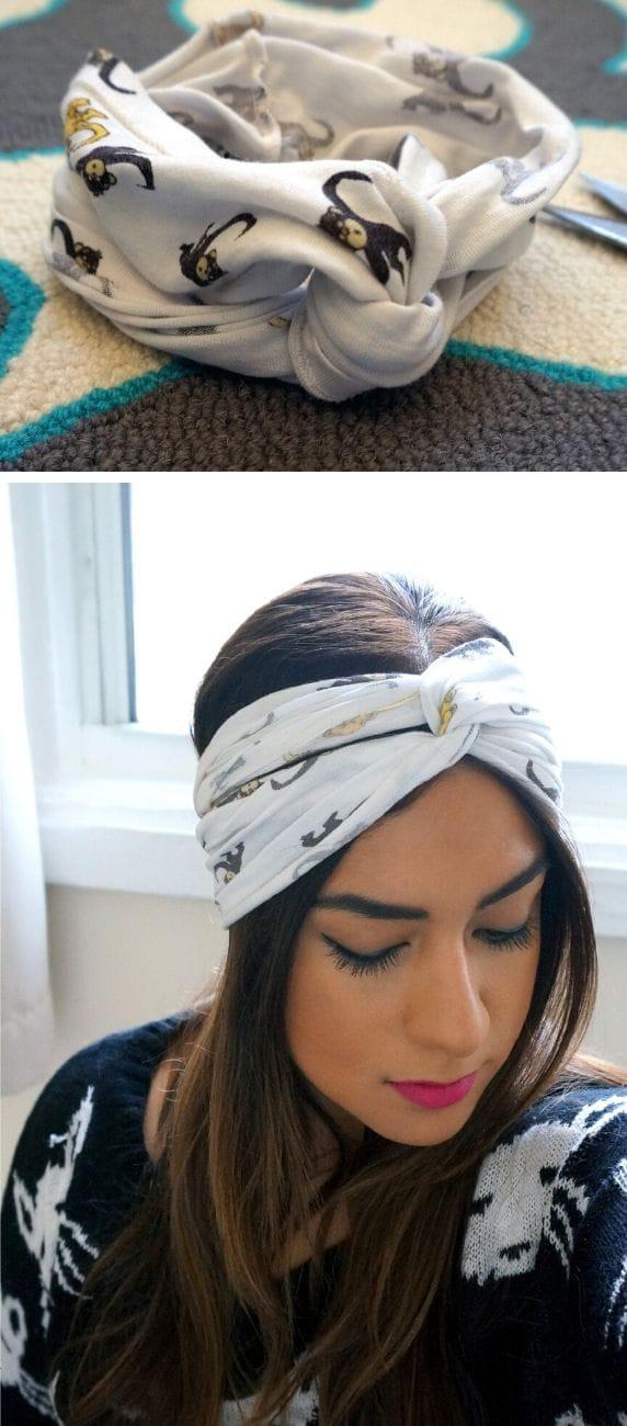 DIY No-Sew Turban Headband