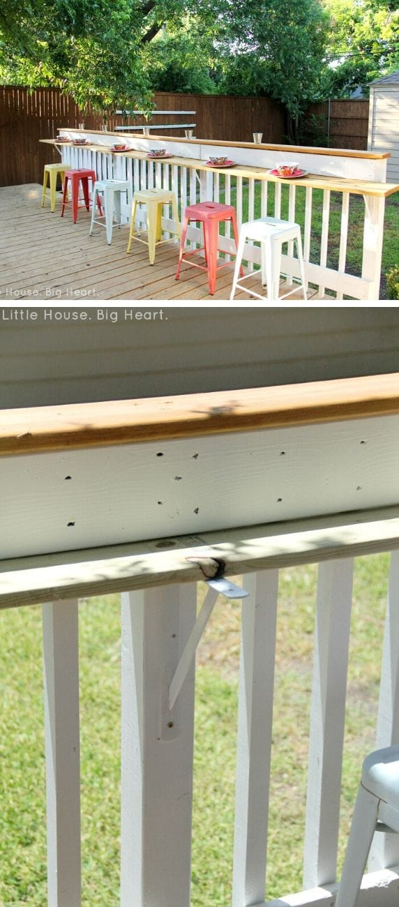 Unique DIY deck railing ideas and designs #4