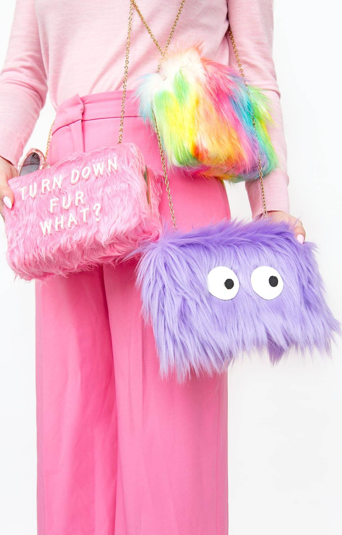 DIY Colorful Fur Bags