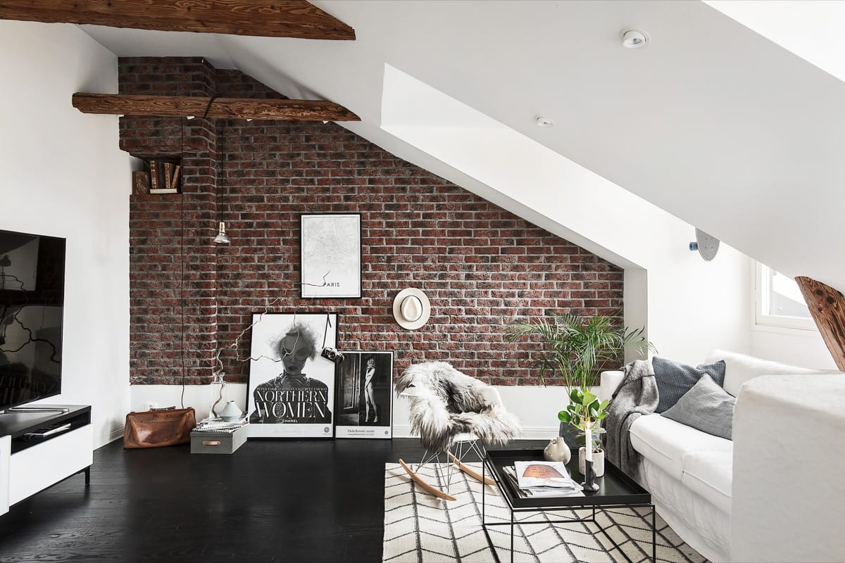 Sloping Roof with Exposed Brick Feature