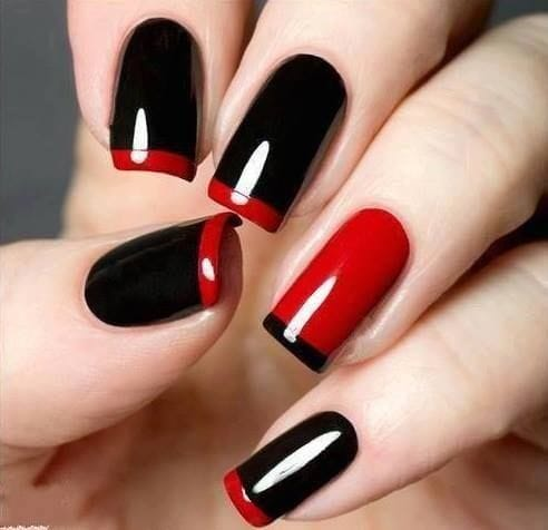 Classic French Tip Nail Design