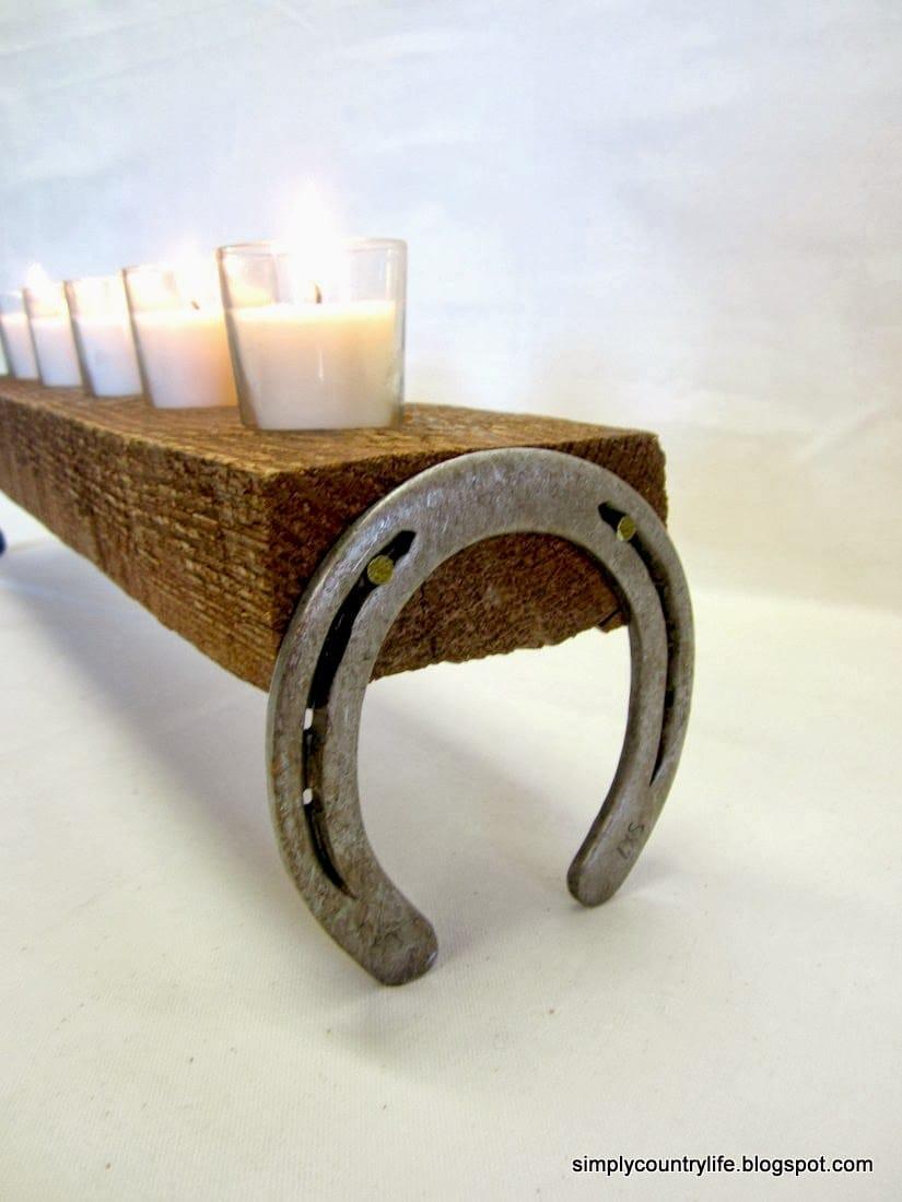 Horseshoe Candle Holder