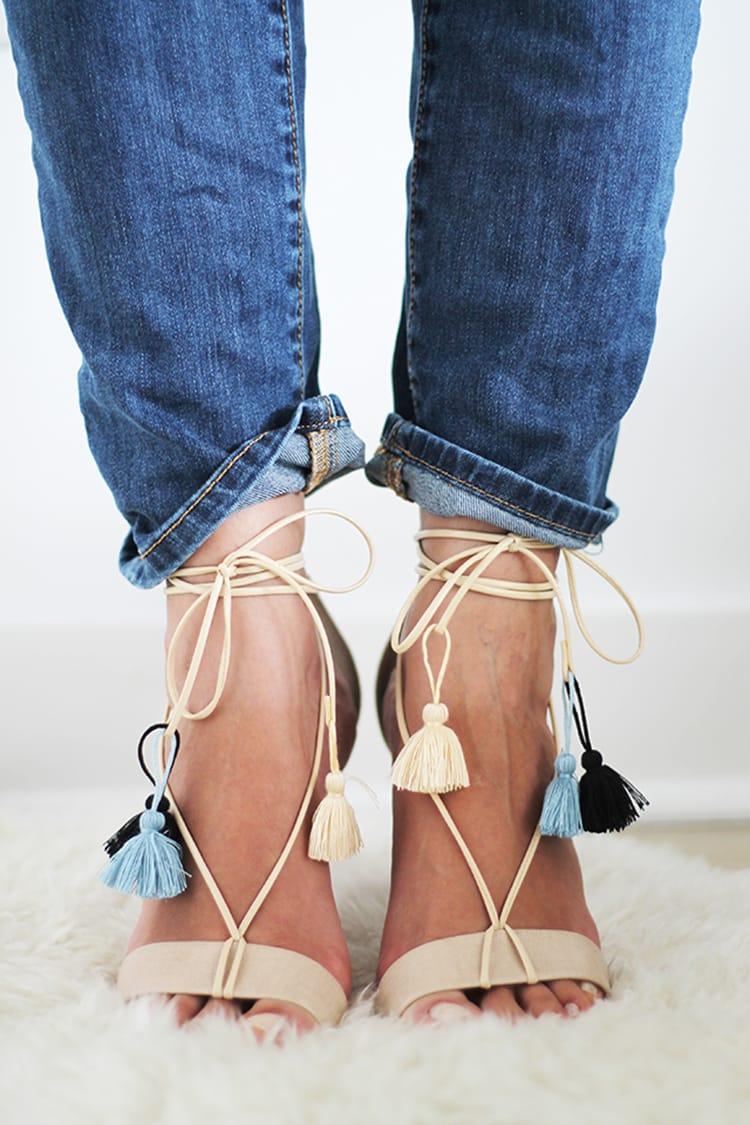 DIY Lace-Up Sandals