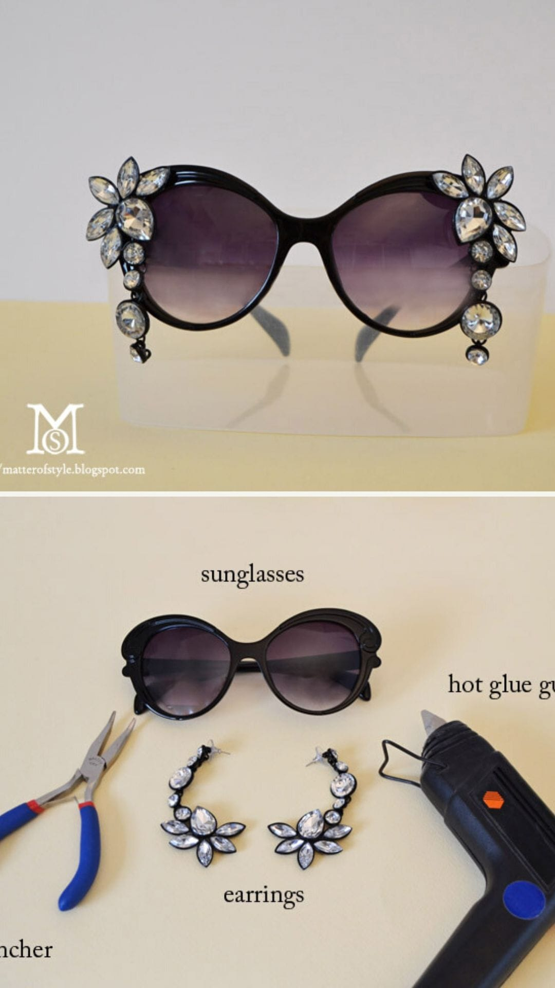 DIY Bejeweled Glasses