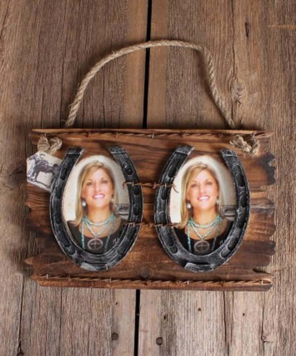 Horseshoe Double Photo frame