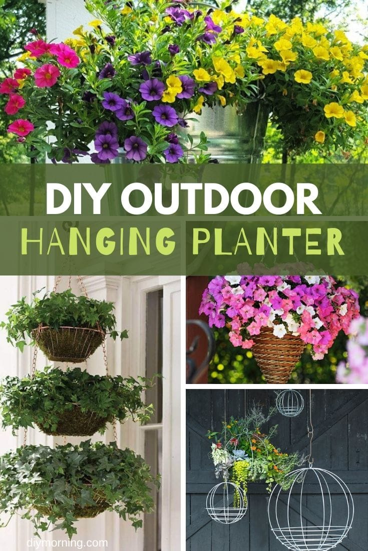 Cheap DIY outdoor hanging planter ideas