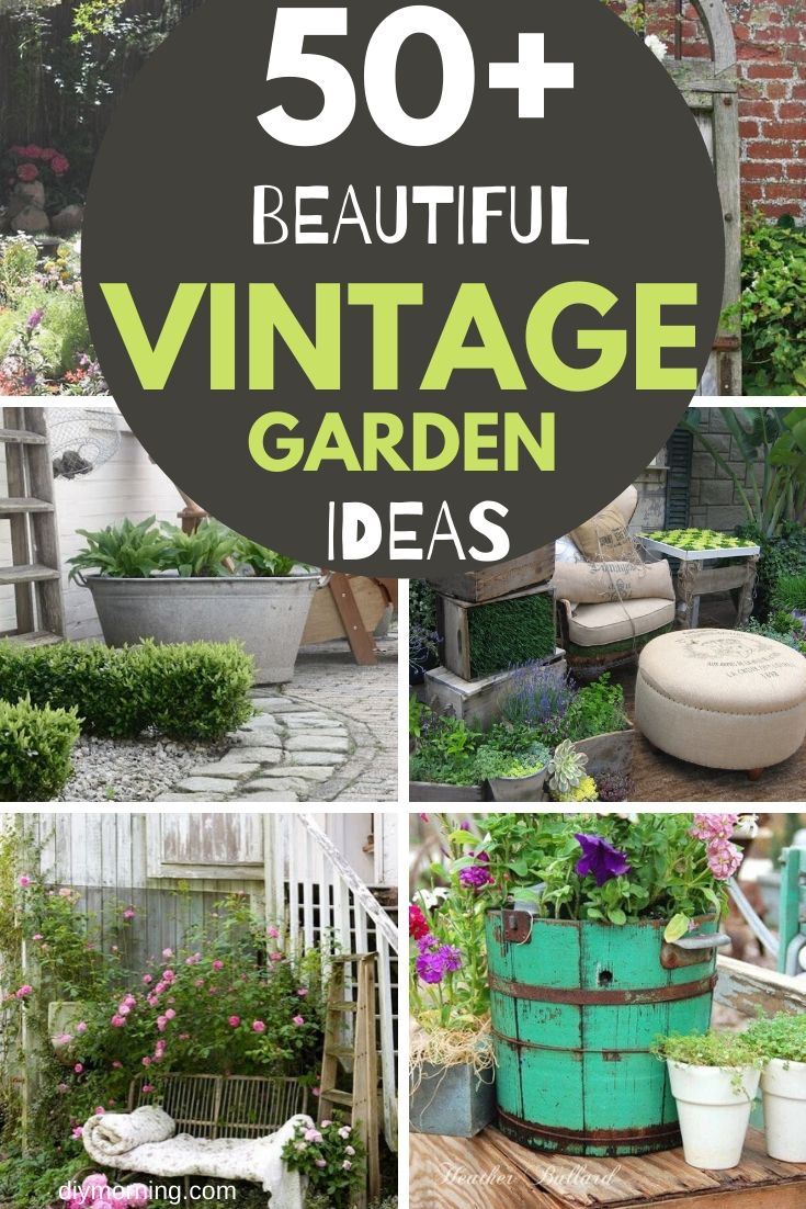 Shabby chic vintage garden design ideas