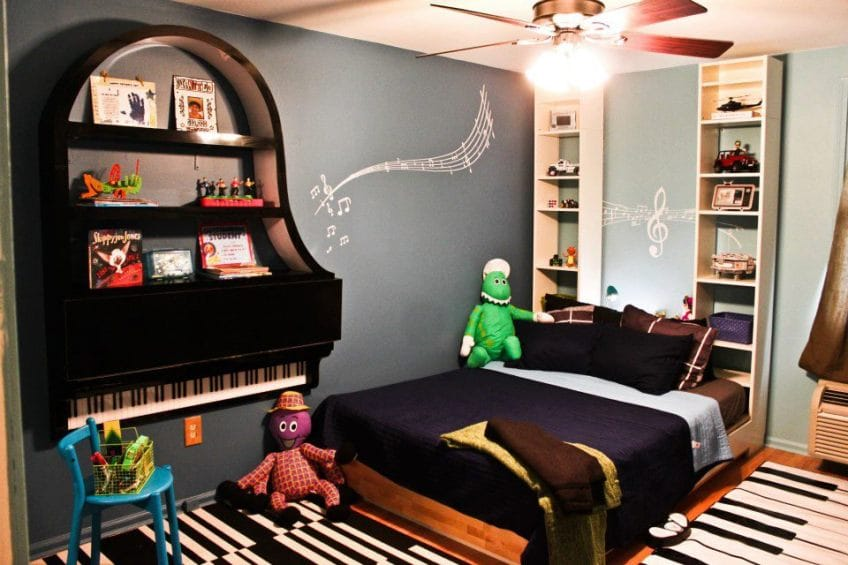 Repurposed Old Piano into a Kids Play Area