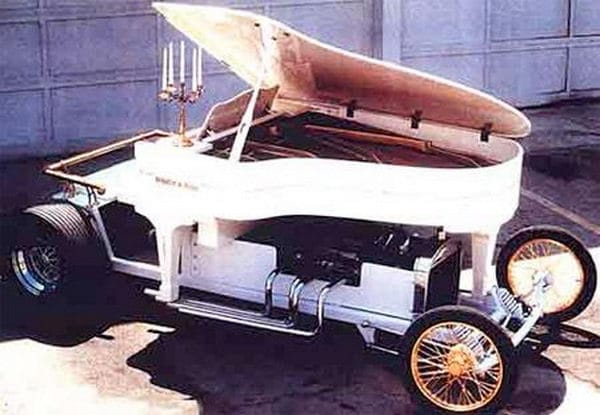 Repurposed Old Piano into a Motor Vehicle