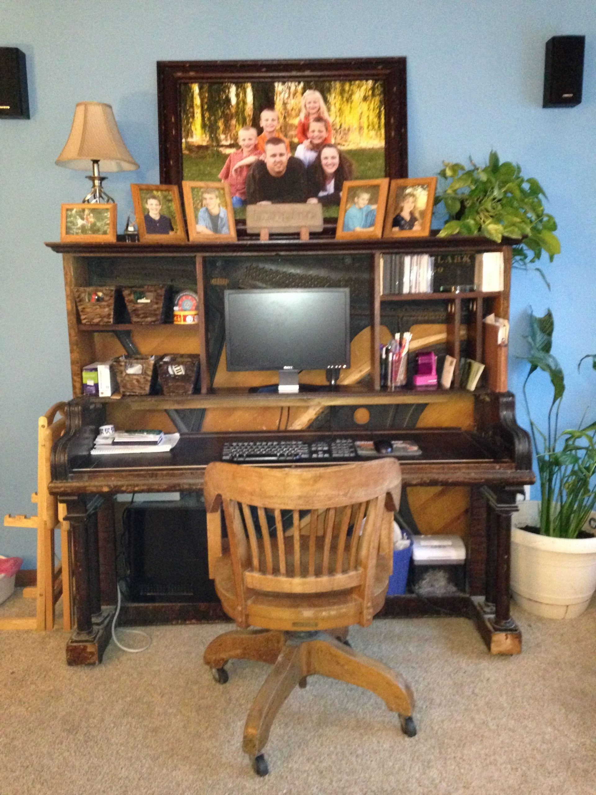 Repurposed Old Piano into a Computer Table