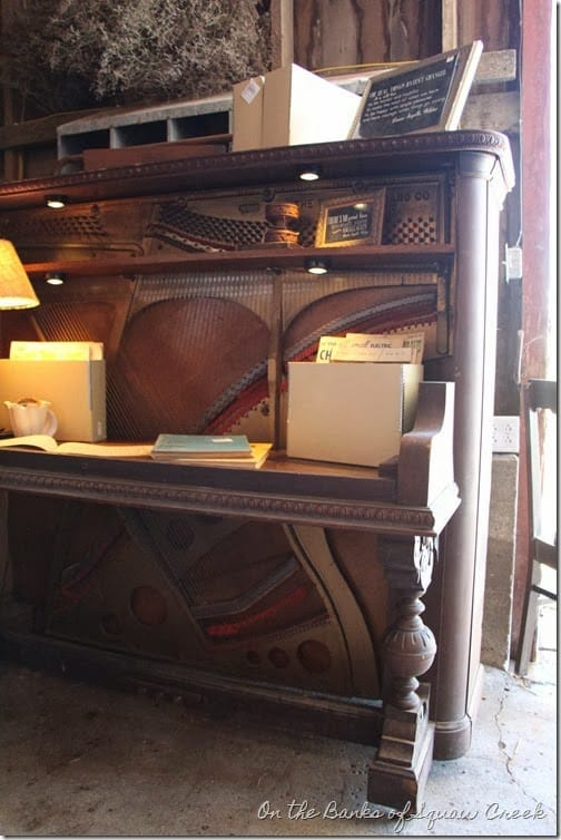 Repurposed Old Piano into a Writing Table