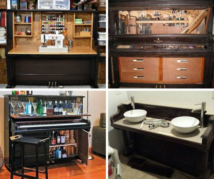 Best ways to repurposed old piano