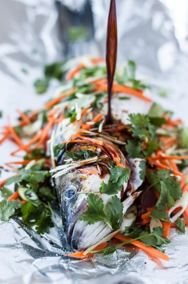 Asian-Style Baked Rockfish