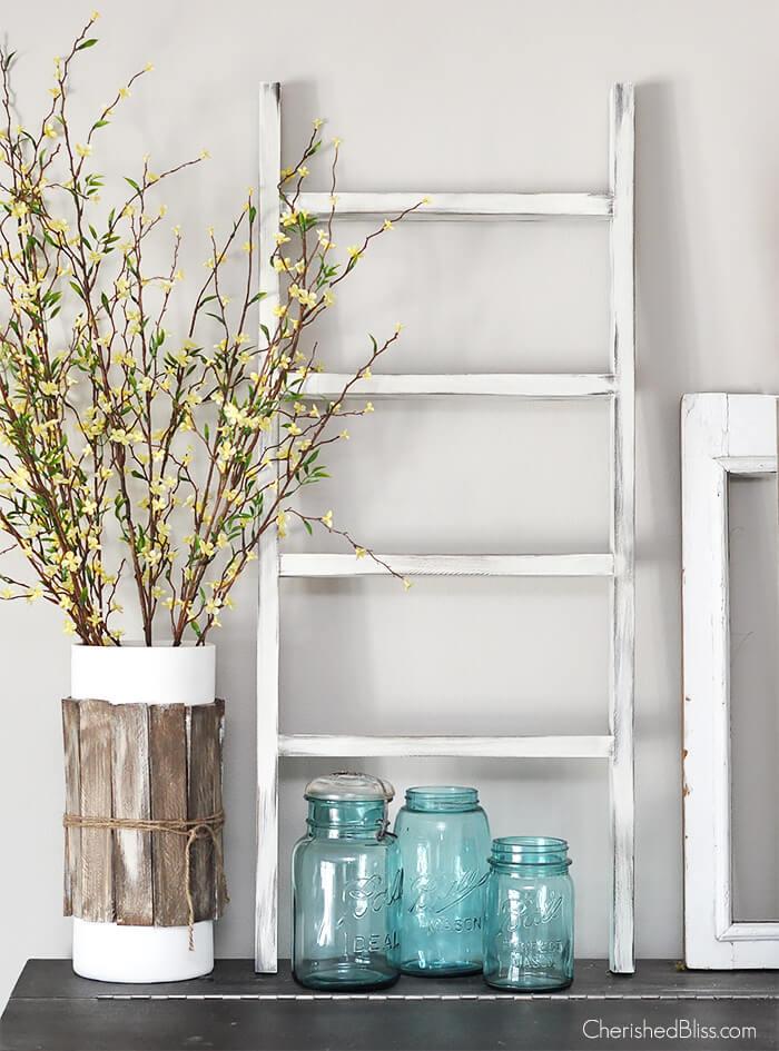 Mini Wooden Ladder Decorative Piece