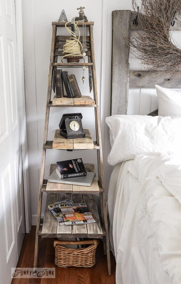 Ladder Bedside Bookshelf