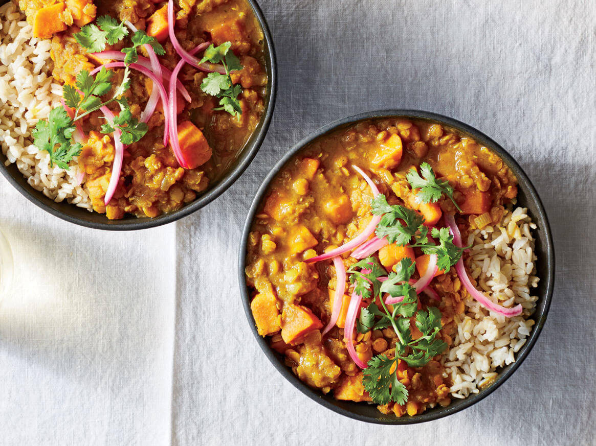 Sweet Potato and Lentil Curry