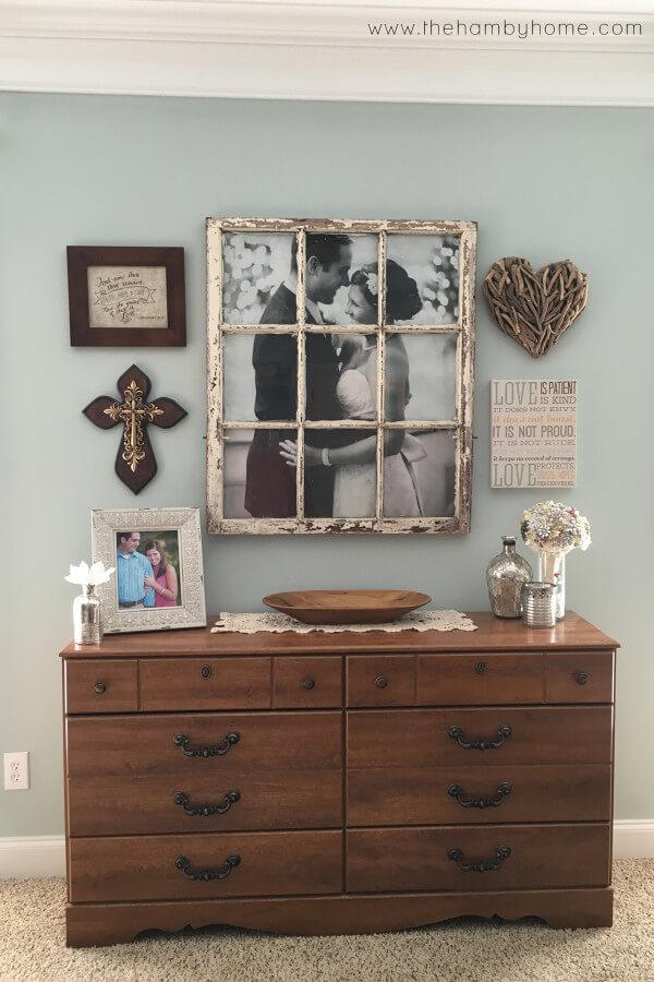 Antique Windowpane Picture Frame