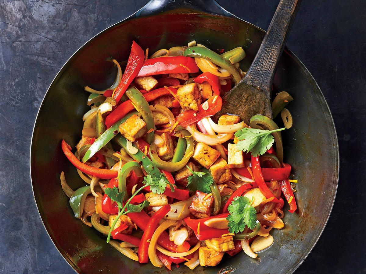 Orange, Tofu and Bell Pepper Stir Fry